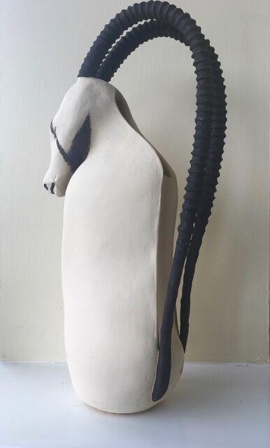 White Oryx Ewer