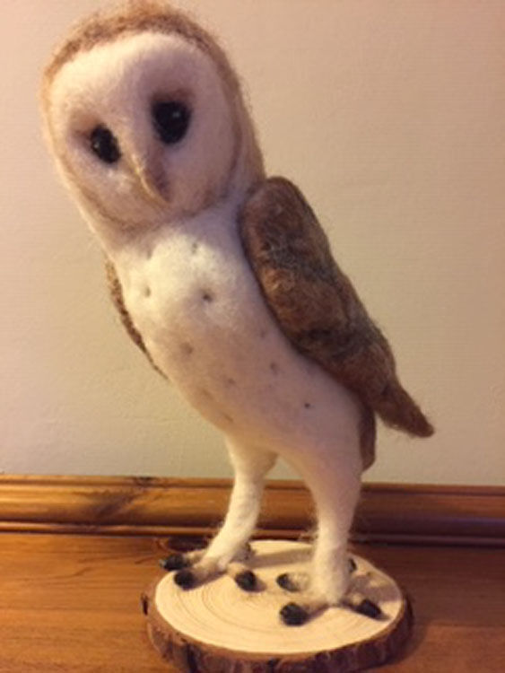 Young Owl needlefelt