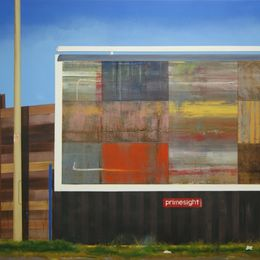 Billboard painting (West Shore Road) - 120 x 95 cm - Oil, acrylic and spraypaint on canvas