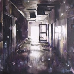 Monologue ( corridor) 130x170cm Oil on canvas (Private collection)
