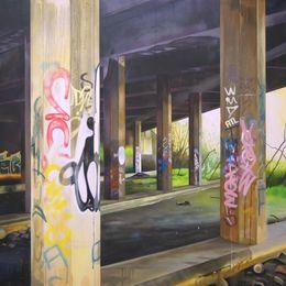 Subterranea - 140 x 180 cm - Acrylic, oil and spraypaint on canvas - 2017