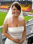 Wedding Photography at the Bradford Bulls stadium.