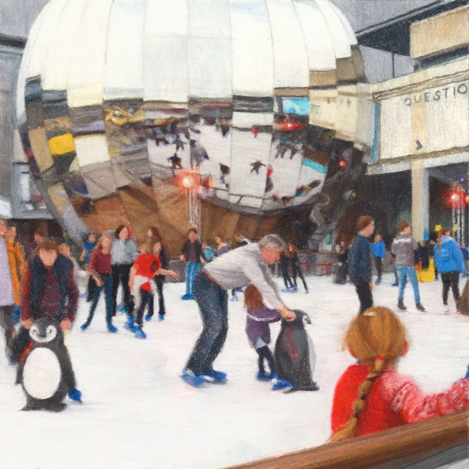 Skaters in millenium Square