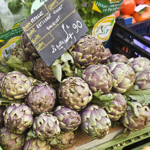 Artichokes for sale, Sunday market, Annecy