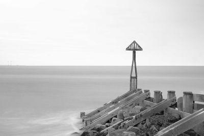 Black & White seascape at Seaton Sluice