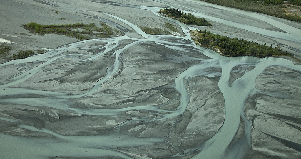 Braided river bed, Anchorage