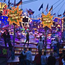 Fun fair at night, Cologne