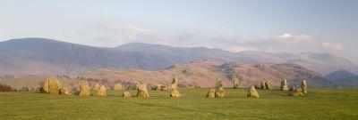 Castlerigg stone circle at evening
