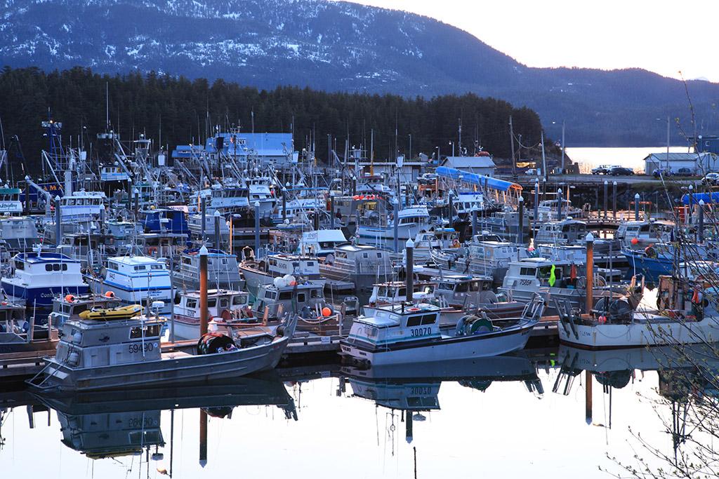Cordova harbour at twilight
