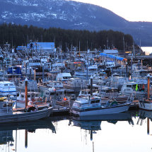Cordova harbour at twilight