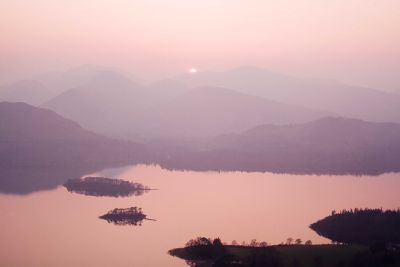 Derwentwater from Walla Cragg at sunset