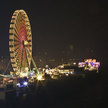 Fun fair at night, Cologne