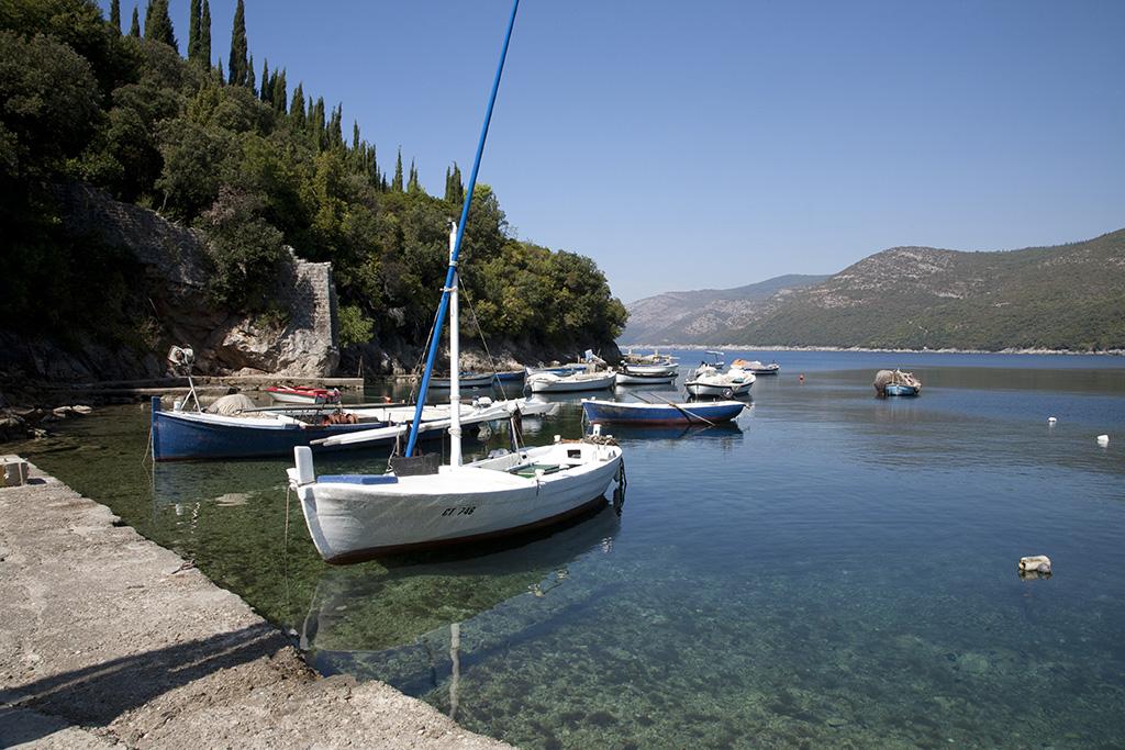 Boats at Molunat, Croatia