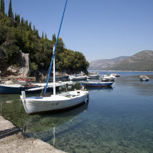Boats at Molunat, Croatia