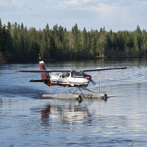 Float plane on river at Fairbanks