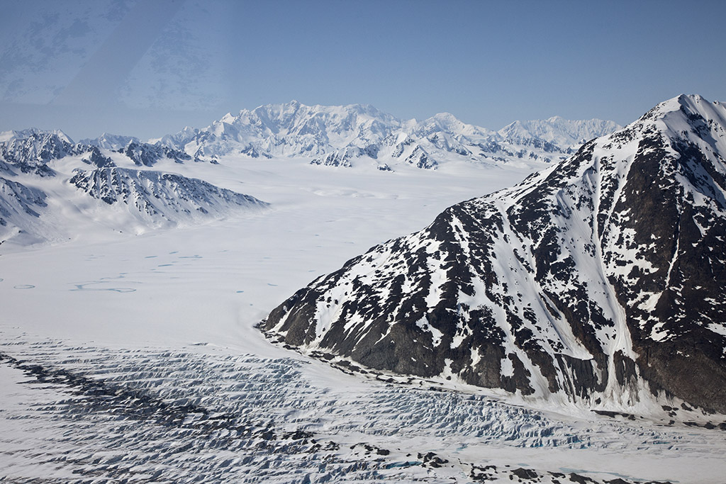 Glacier from the air