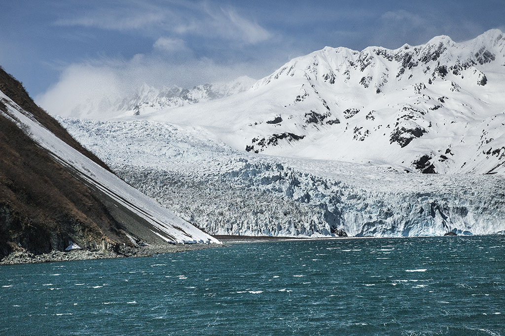 Glacier meeting the sea Kenai Peninsular