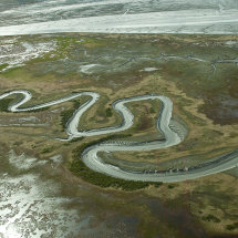 Meandering river near Anchorage