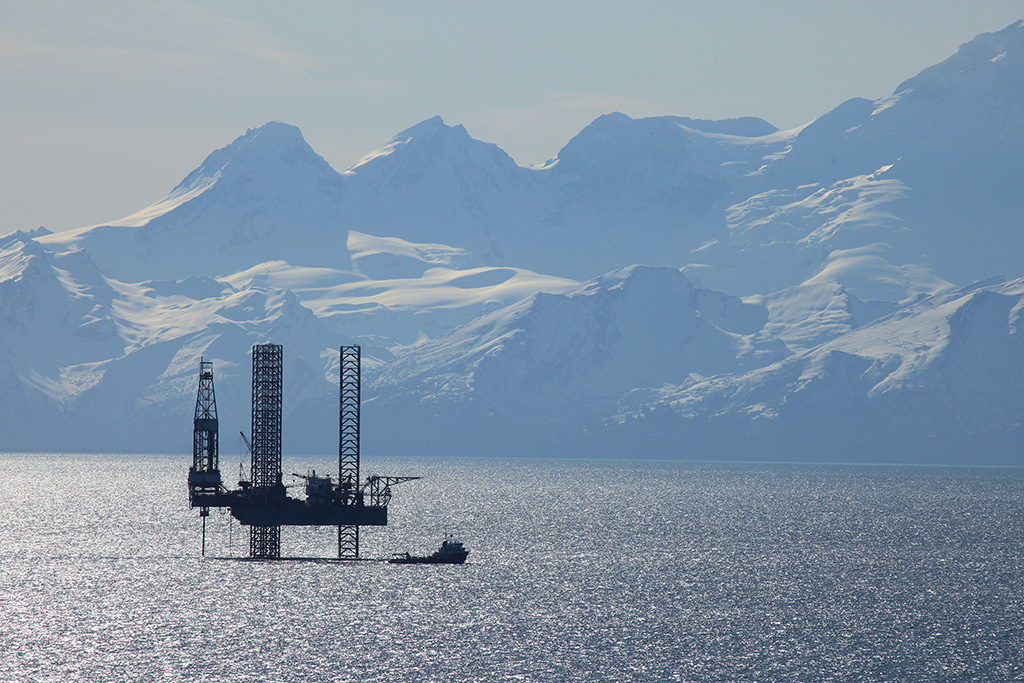 Oil rig in Cook Passage
