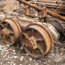 Old railway bogie at Kennicot
