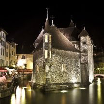 Old prison at night, Annecy