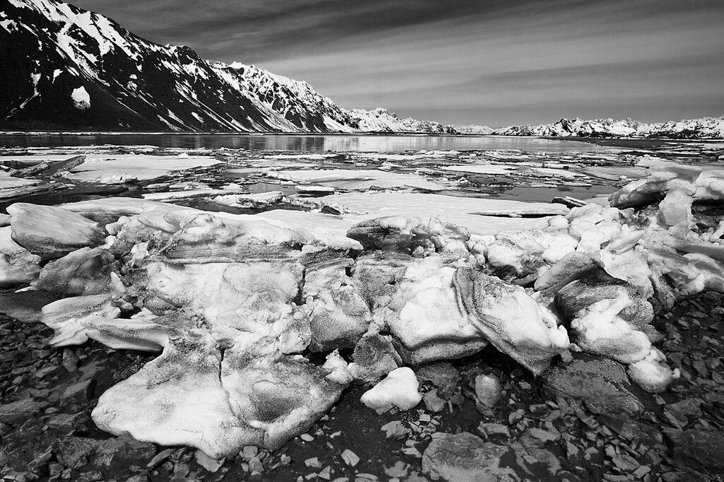 River feeding Prince William Sound, Alaska