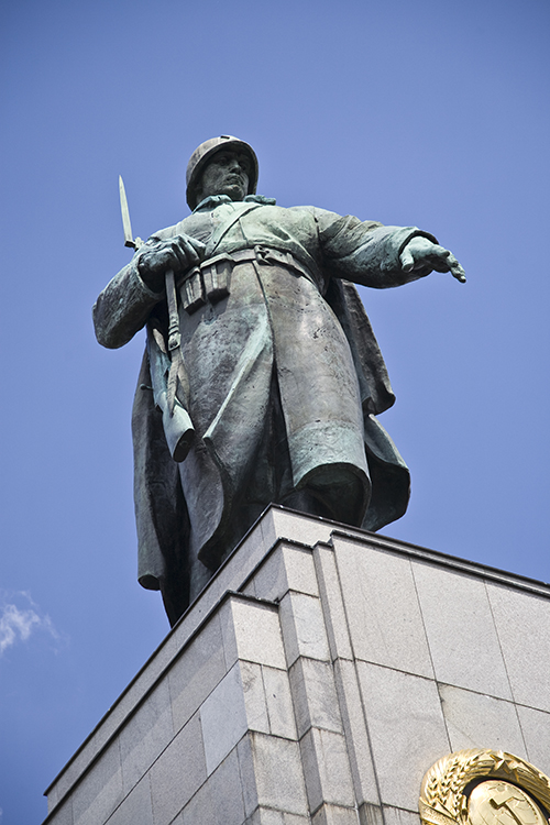Russian soldier on memorial