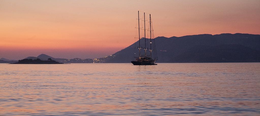 Sunset at Cavtat, Croatia