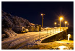 026 Abbey Pier in the snow at night