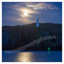 "188 ""Blue Moon"" rising over Baltimore Beacon and Loo Bouy"
