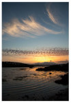 130 Mackerel Sky and Mares' Tails over the Lagoon, Sherkin Island