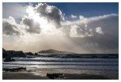 075 Silver Strand, Sherkin Island, on a wind swept day