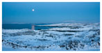 063 Moon over snow covered Sherkin Island