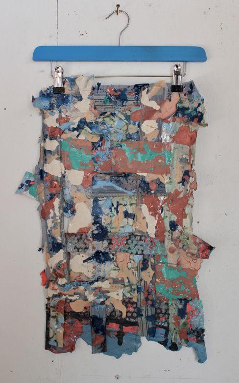 Grid4 acrylic&mixed media 40x68 2019