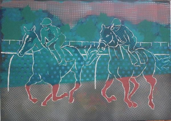 horse race 2 70x50cm