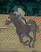 horse+rider 2. 50x40cm