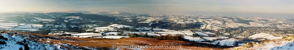 Chagoford from Meldon Hill Panorama