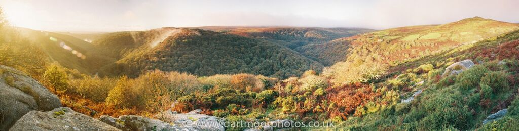 The Dart Gorge panorama