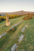 Haytor, tramway, boundary stone