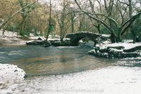 Hisley Bridge in the Lustleigh Cleave
