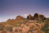 Houndtor moonrise at dusk