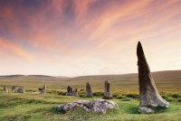 Scorhill Stone Circle at dusk
