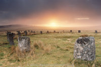 Sunrise Grey Whethers Stone Circles, Bronze-age Dartmoor