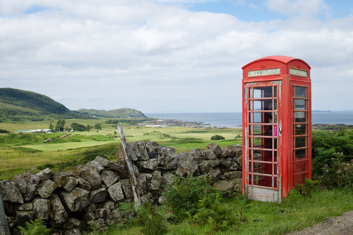 PHONE BOX BY THE SEA