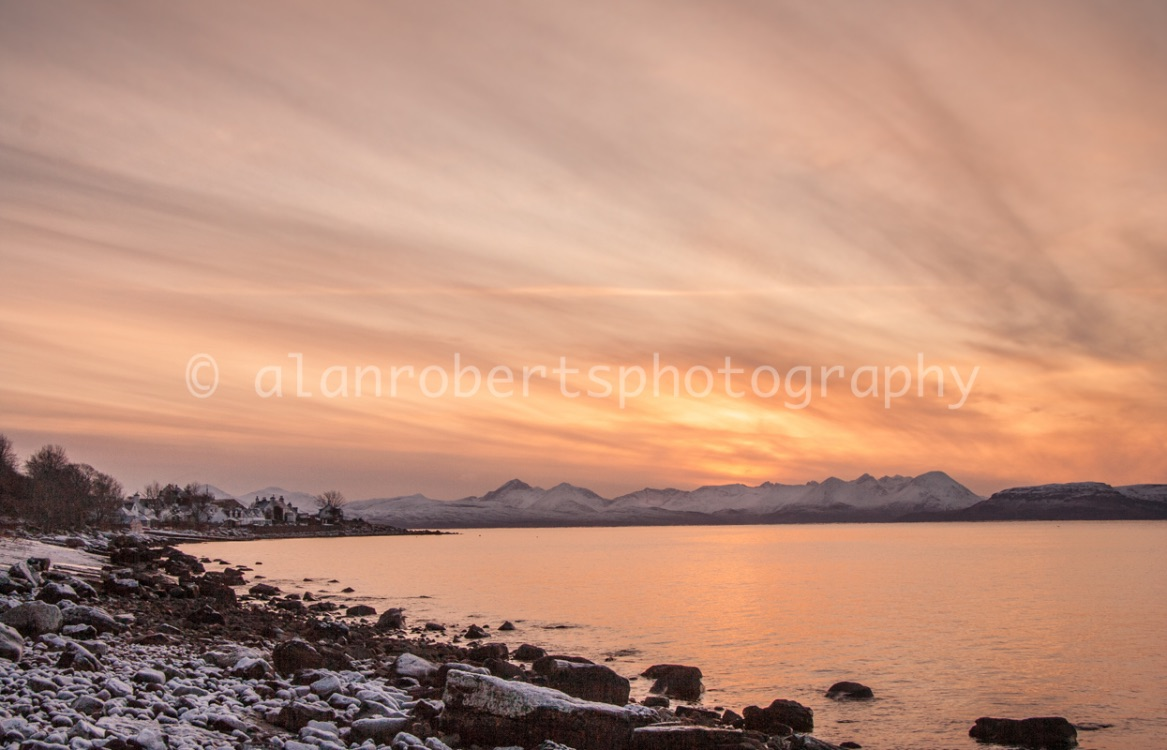 APPLECROSS BAY AND RAASAY SUNSET