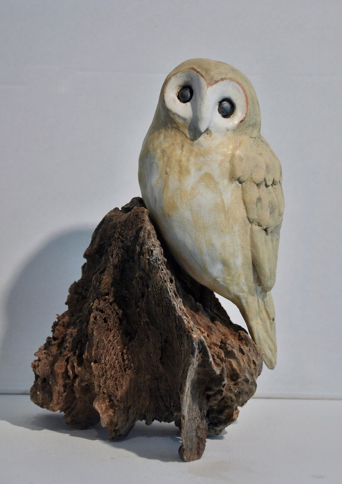 OWL ON DRIFTWOOD