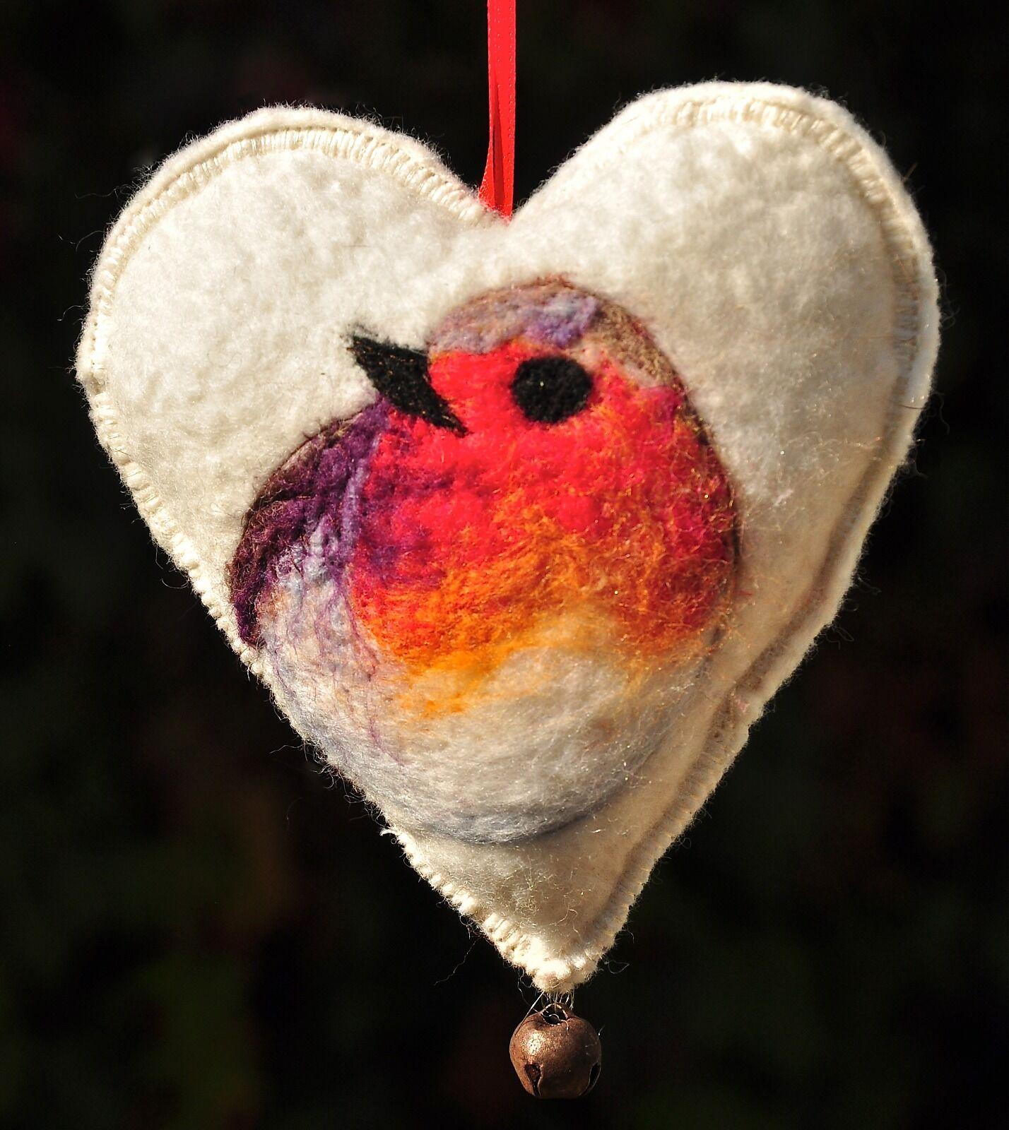 Hanging Felt Heart Decoration