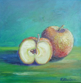 Apples. Oil on box canvas. 30 x 30cm SOLD