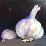 Garlic. Oil on box canvas. 30 x 30 cm SOLD