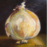Onion. Oil on box canvas. 30 x 30 cms SOLD